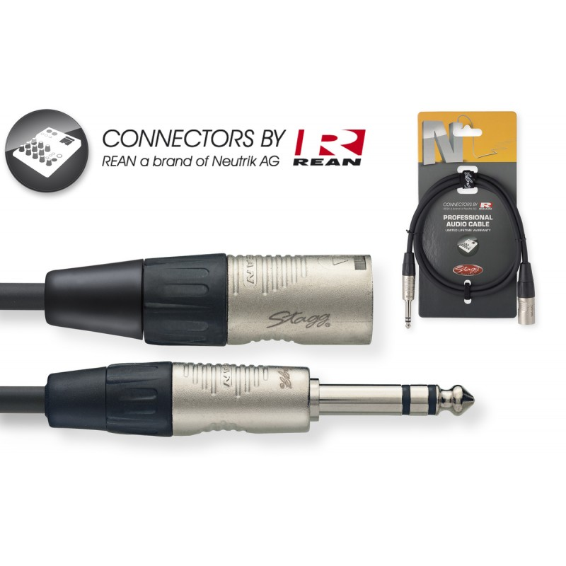 Audio cable Stagg NAC1PSXMR, 1m