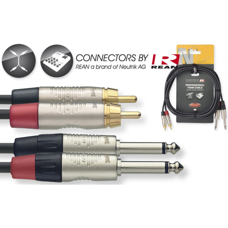 Audio cable Stagg NTC6PCMR, 6m