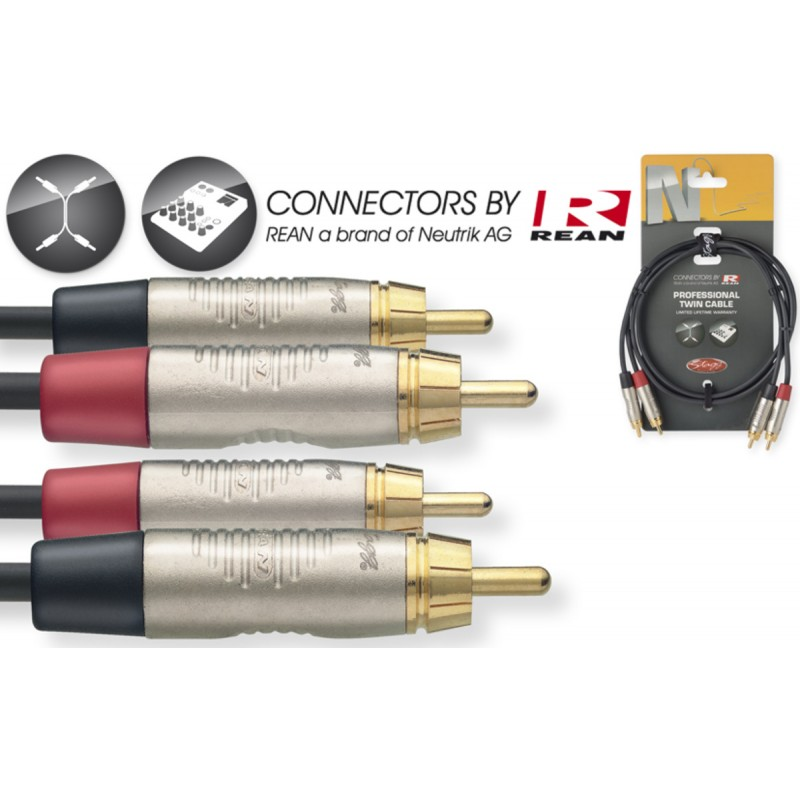 Audio kabelis Stagg NTC2CR, 2m
