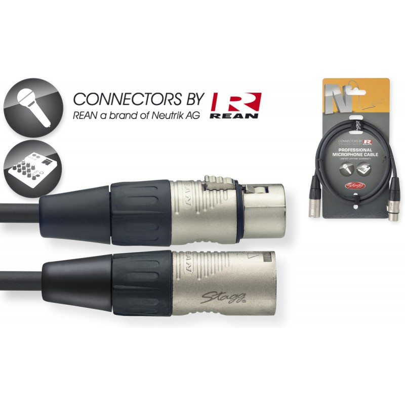 Audio cable Stagg NMC1R, 1m