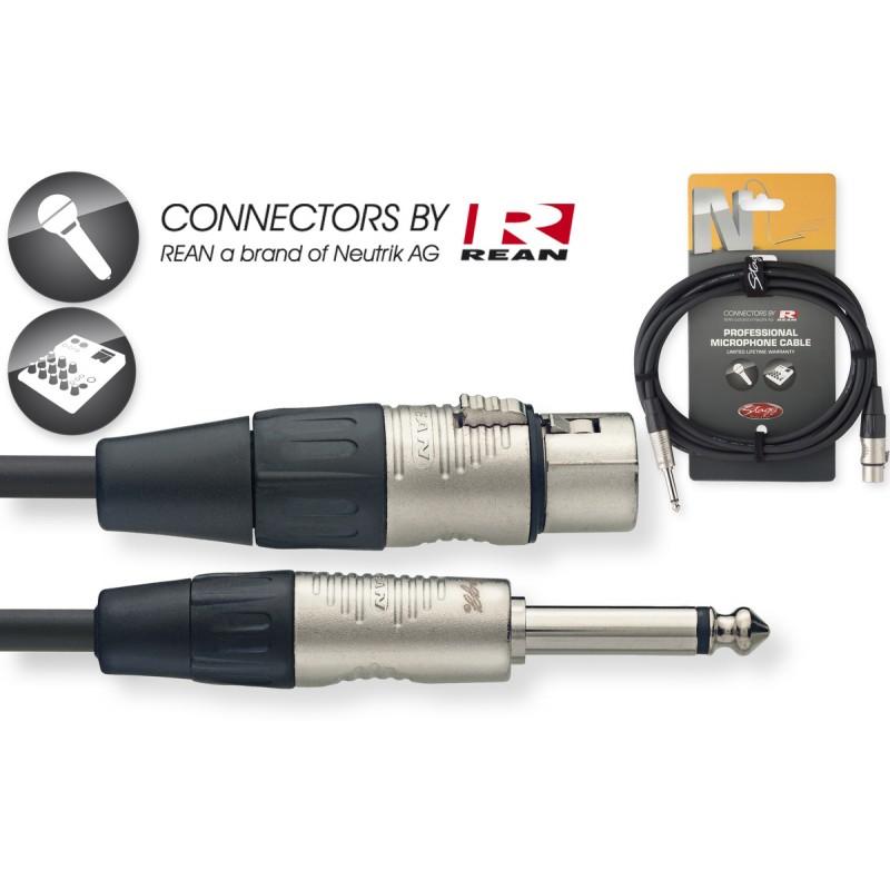 Audio kabelis Stagg NMC1XPR, 1m