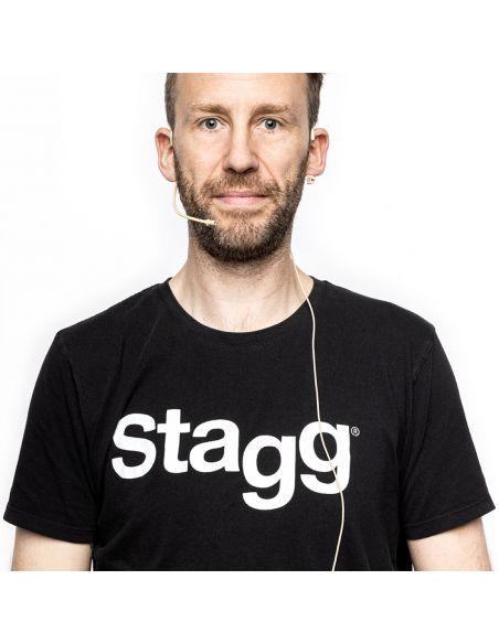 Bevielis mikrofonas ant ausies (heatset) Stagg SUW 12H-BE (kūno spalvos)