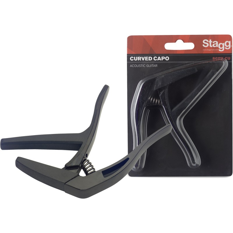 Capo for acoustic/electric guitar Stagg SCPX-CU BK