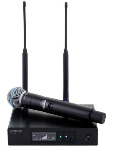 Bevielis mikrofonas SHURE QLXD24E/B58-K51