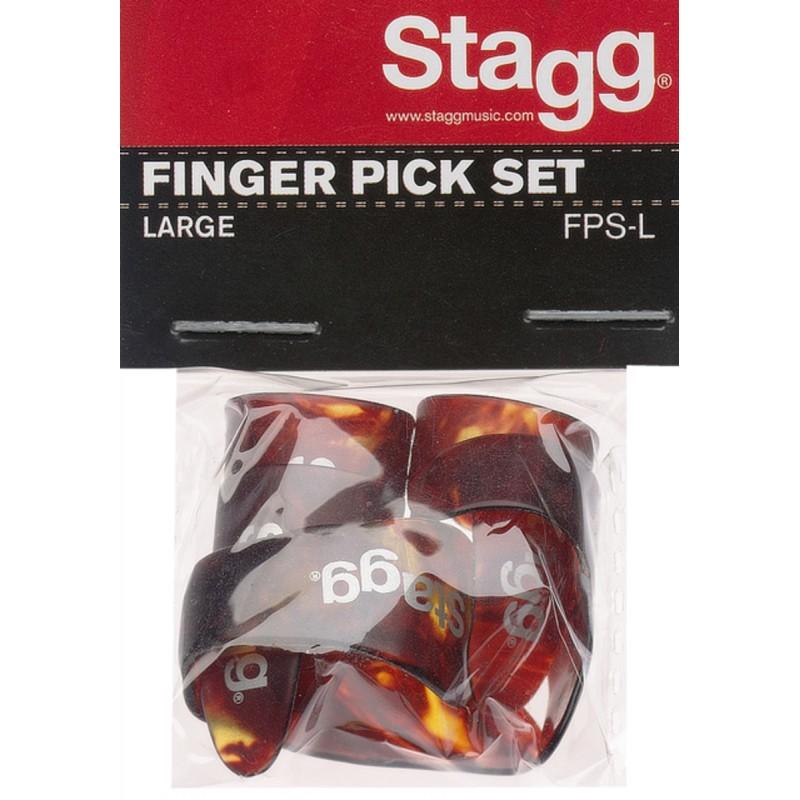 Set of fingers picks Stagg FPS-L
