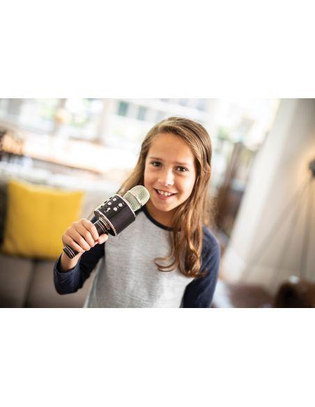 Karaoke vakarėlio mikrofonas, kolonėlė ir grotuvas viename QTX KPM5-BK