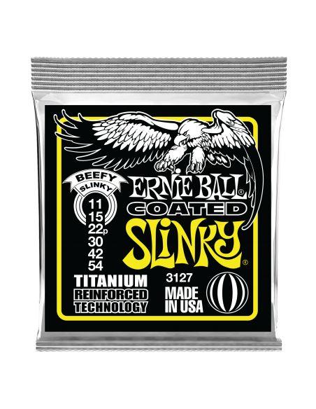 Stygos el. gitarai Ernie Ball Beefy Slinky Coated Titanium 11-54