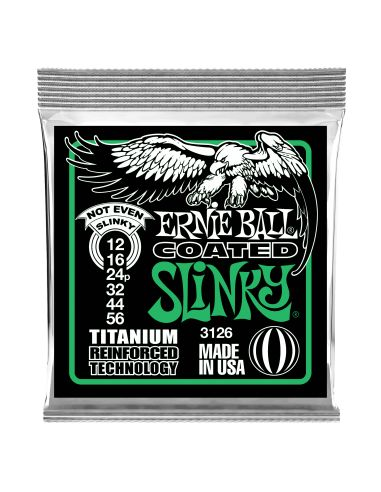 Stygos el. gitarai Ernie Ball Not Even Slinky Coated Titanium 12-56