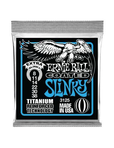 Stygos el. gitarai Ernie Ball Extra Slinky Coated Titanium 8-38
