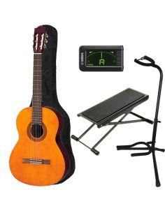 Klasikinės gitaros komplektas Yamaha C40 4/4 (gitara, derintuvas, dėklas, stovas, pakojis)