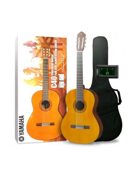 Klasikinės gitaros komplektas Yamaha C40 4/4 (gitara, derintuvas, dėklas)