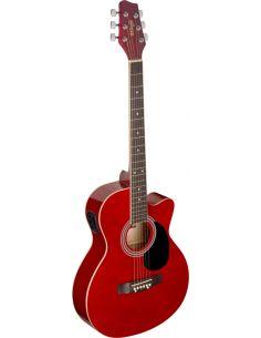 Elektro-akustinė gitara Stagg SA20ACE RED