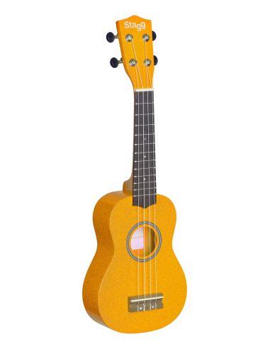 Soprano ukulele + gigbag Stagg US-LEMON