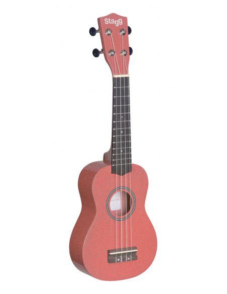 Soprano ukulele in black nylon gigbag Stagg US-LIPS