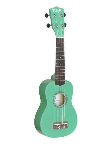 Soprano ukulelė + dėklas Stagg US-GRASS