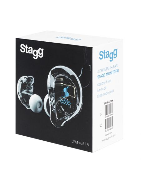 Ausinės in-ear Stagg SPM-435 TR (permatomos)