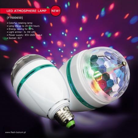 Efektas LED atmosferinė lempa +garsas