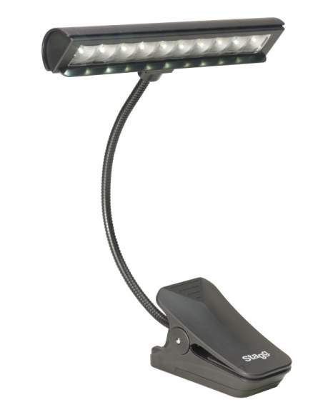 Multipurpose clip-on and free-standing LED lamp
