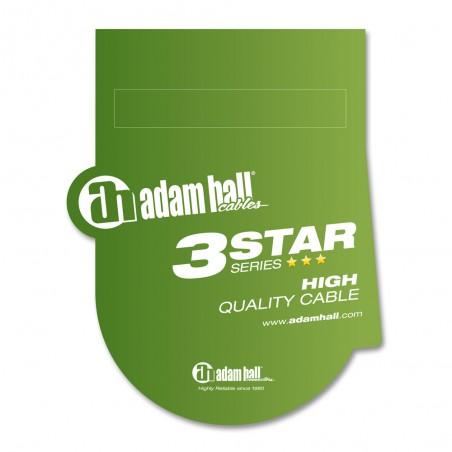 Kabelis 1xJACK 3.5 stereo - 2xJACK 6.3 3m