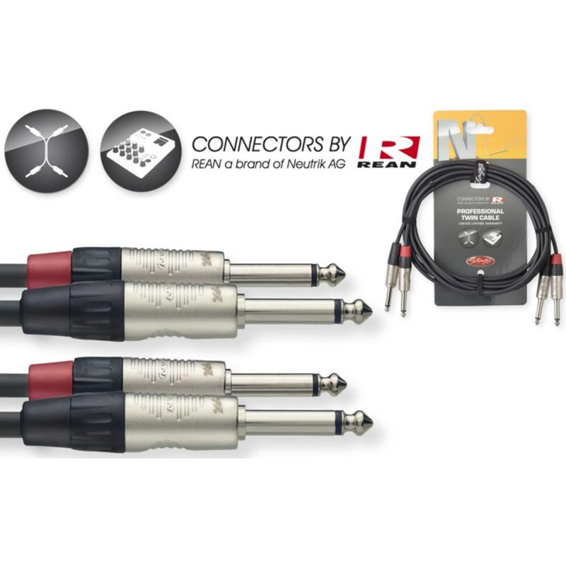 Audio kabelis Stagg NTC3PR, 3m