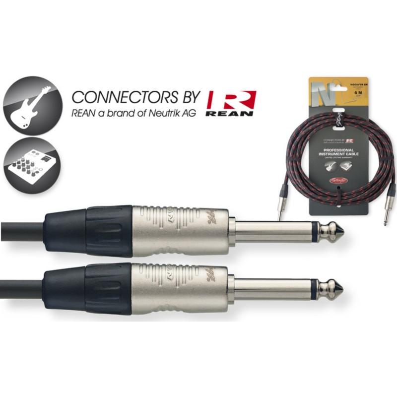 Instrumentinis kabelis REAN JACK 6.3 mono - JACK 6.3 mono juodas 6m