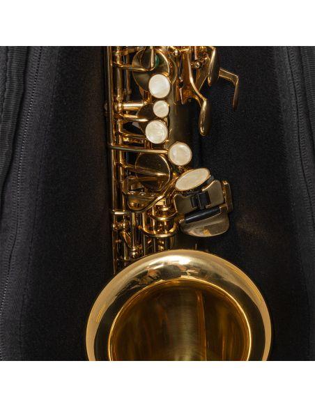 Dėklas saksofonui Stagg SB-AS-BKF (odinis)