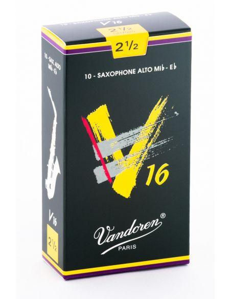 Box of 10 V16 alto sax reeds n 2,5
