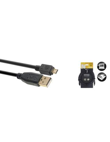 Duomenų kabelis Stagg USB-A/m - micro USB-A/m 5m