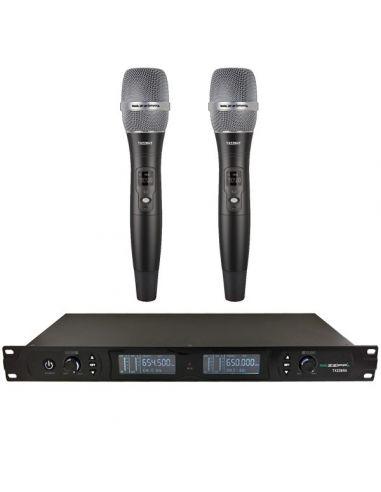 Mikrofonai su stotele (2 rankiniai mikrofonai) ZZIPP TXZZ800