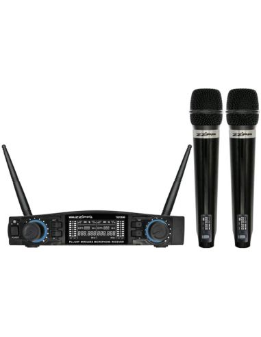 2 bevieliai mikrofonai su stotele ZZIPP TXZZ580