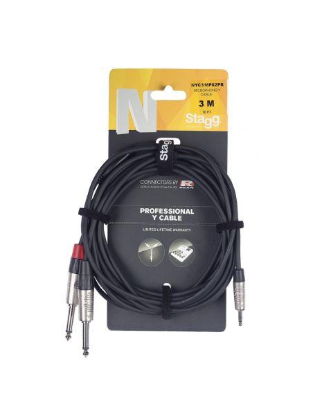 Audio kabelis Stagg NYC1/MPS2PR, 1m