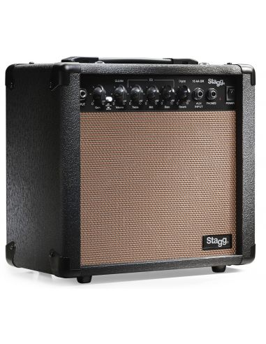 Digital reverb acoustic amplifier Stagg 15 AA DR EU