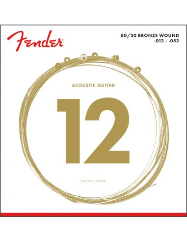 Stygos ak. gitarai Fender 70L 80/20 Bronze 12-52