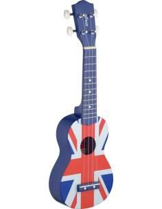 Sop. ukulėlė + dėklas Stagg US UK-FLAG