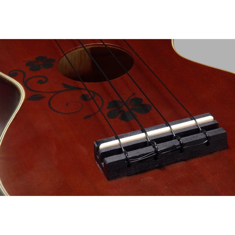Soprano ukulele with gigbag Stagg US20 FLOWER
