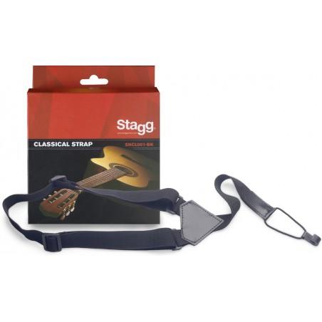 Diržas klasikinei gitarai Stagg SNCL001-BK