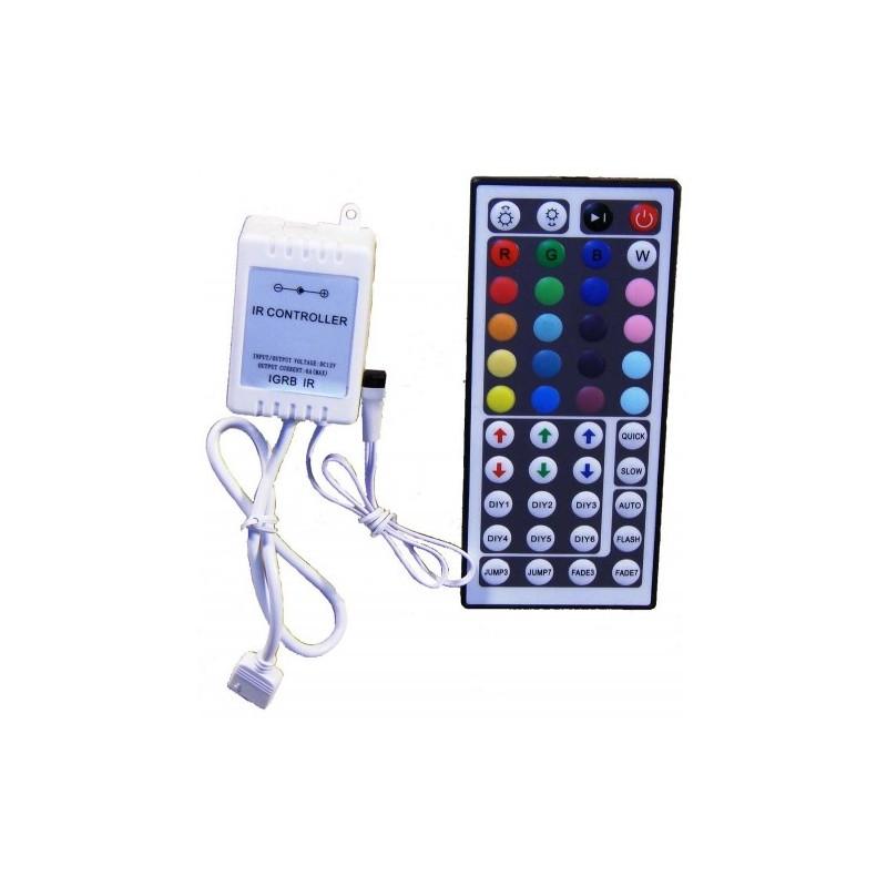 Bevielis IR LED juostos valdiklis RGB