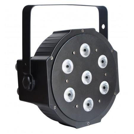 Prožektorius LED PAR 56 SLIM 7x10W 4in1 STRONG BK
