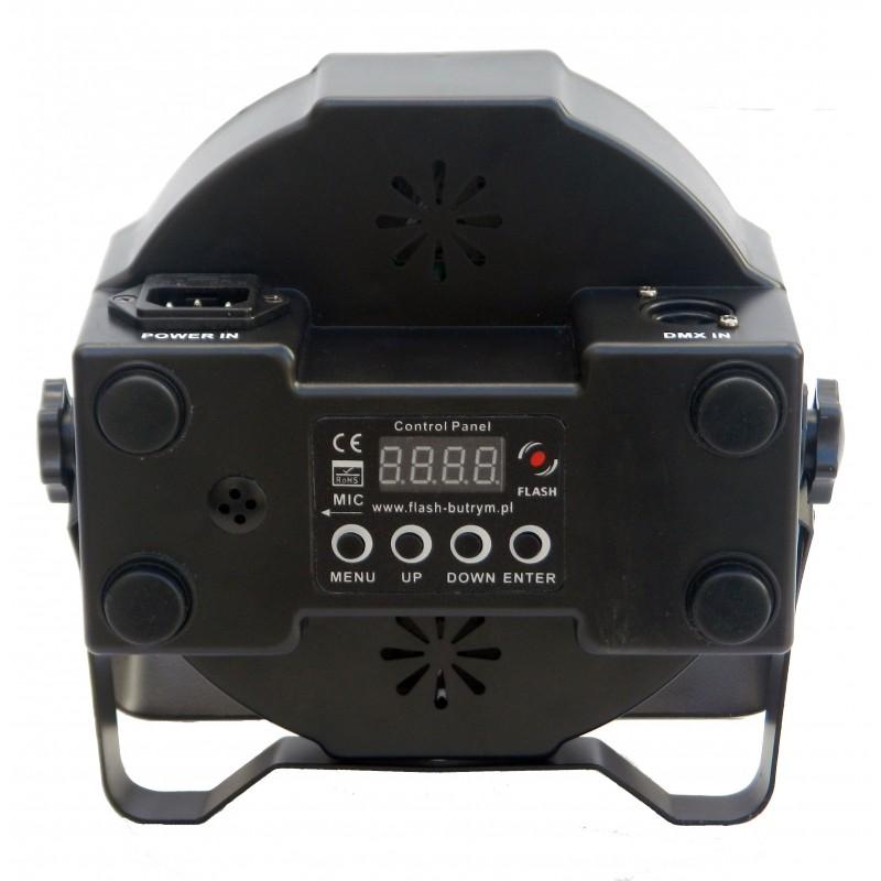 Prožektorius LED PAR 56 SLIM 7x10W 4in1 STRONG BK RE