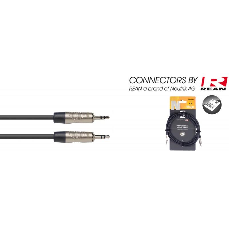Kabelis JACK 3.5 - JACK 3.5 stereo 6m Stagg NAC6MPSR