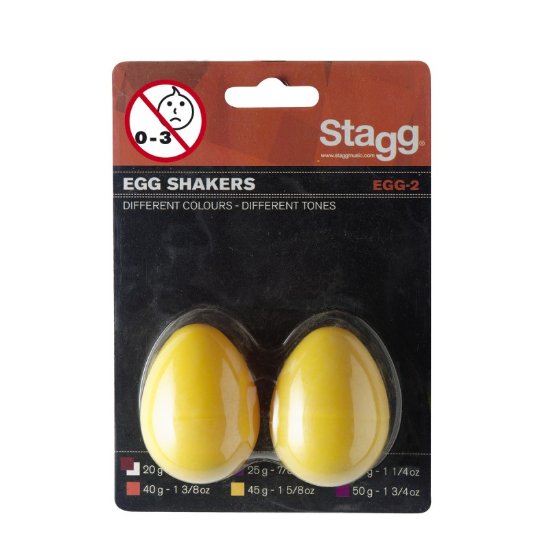 Barškučiai (pora, geltoni) Stagg EGG-2 YW