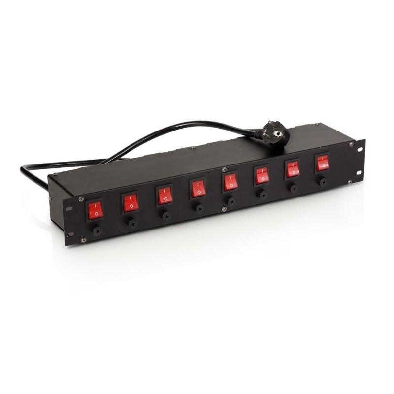 Power distributor RACK 8x230V 6,3A